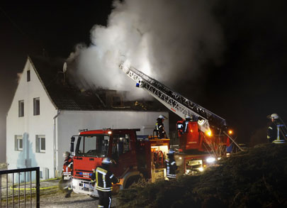 Wohnhausbrand in Bruchertseifen
