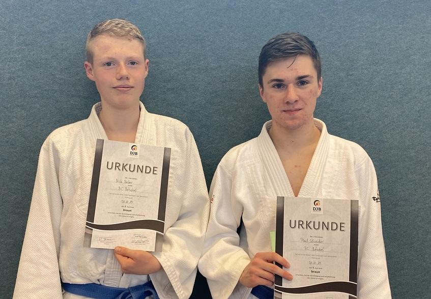 Budo-Club Betzdorf: Neue Braungurttr�ger in der Abteilung Judo