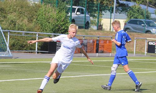 Der stark aufspielende Fynn Schlatter nach seinem zweiten Treffer in Wirges. (Foto: JSG Wisserland)