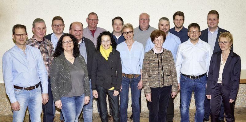 Kandidatenliste der CDU für den Stadtrat Rennerod