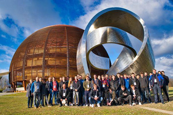 Nachwuchsphysiker aus Marienstatt besuchten das CERN. Foto: privat
