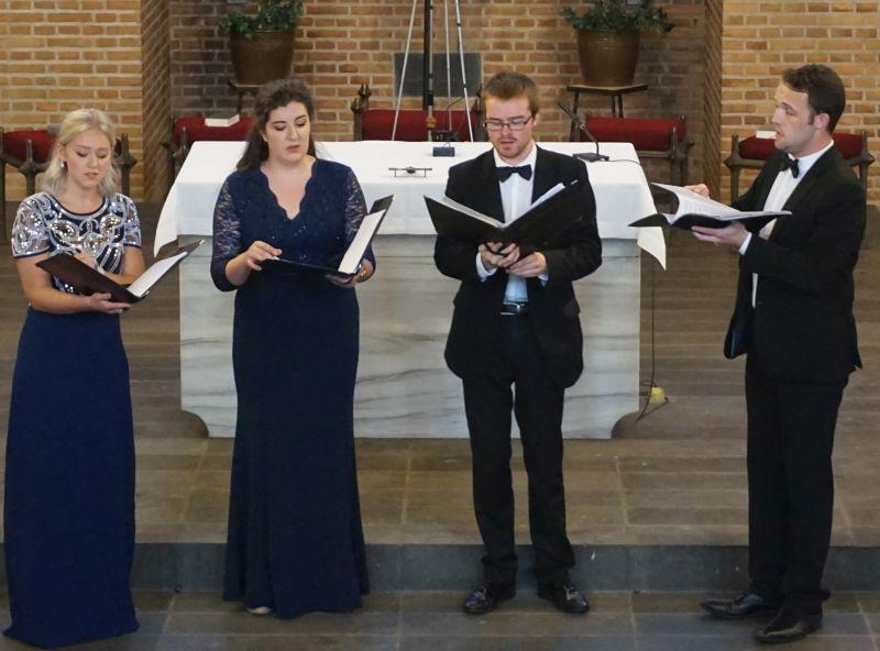 Die vier Solisten aus Schottland. Fotos: Daniel Bockshecker