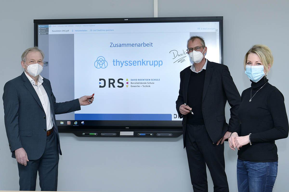 Thyssenkrupp Rasselstein unterstützt David-Roentgen-Schule