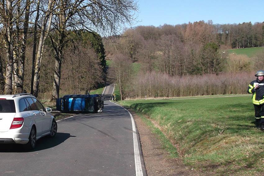 Unfall: Einsatz für die Feuerwehren Oberdreis und Puderbach