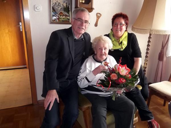 Irmgard Wolf feierte ihren 90. Geburtstag in Bendorf