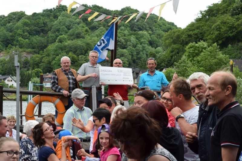 Floßfahrt auf der Lahn mit dem Freundeskreis Westerwald