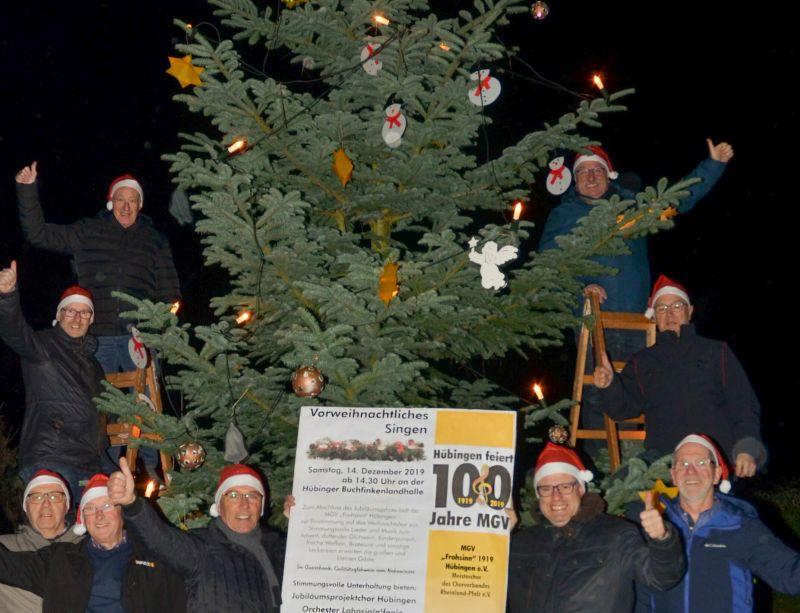 Jubiläumsjahr der Hübinger Sänger endet am 14. Dezember
