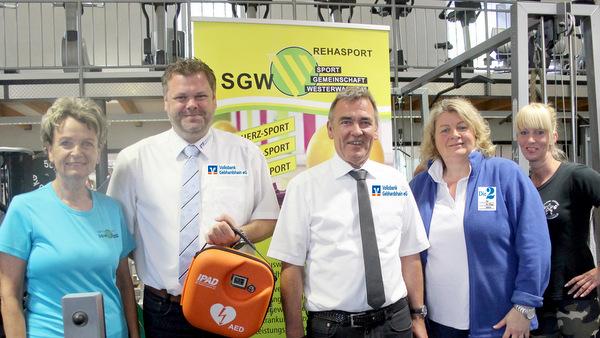 Im Fitnessstudio der SG Westerwald in Gebhardshain gibt es jetzt einen vollautomatischen Defibrillator (AED). (Foto: SG Westerwald)
