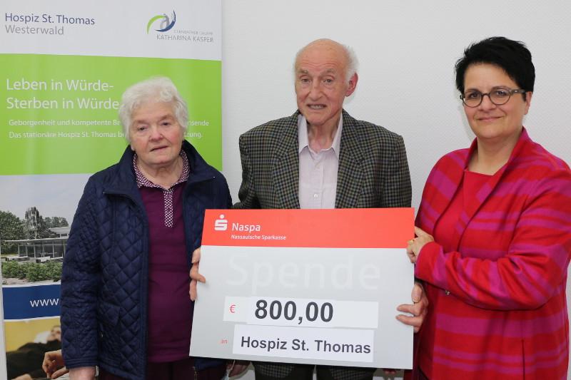 Helferskirchener unterstützt Hospiz St. Thomas