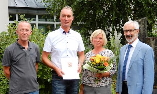 Wolfgang M�rker ist 40 Jahre im Verwaltungsdienst