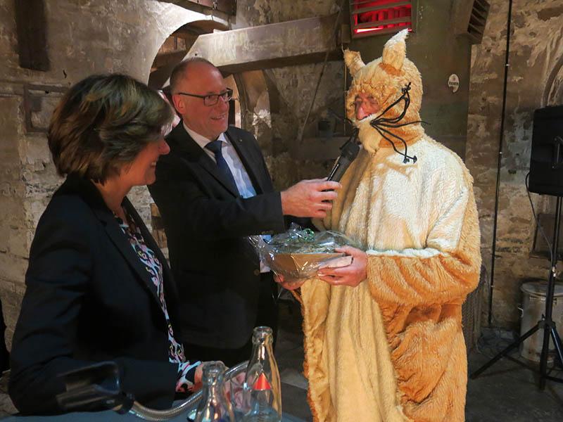 Die Stöffel-Maus durfte in Enspel nicht fehlen. Fotos: wear