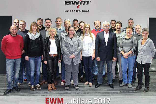 EWM feiert seine langjährigen Jubilare