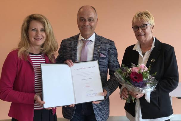 Ehrennadel des Landes RLP für DSV Trainer Rainer Goederz