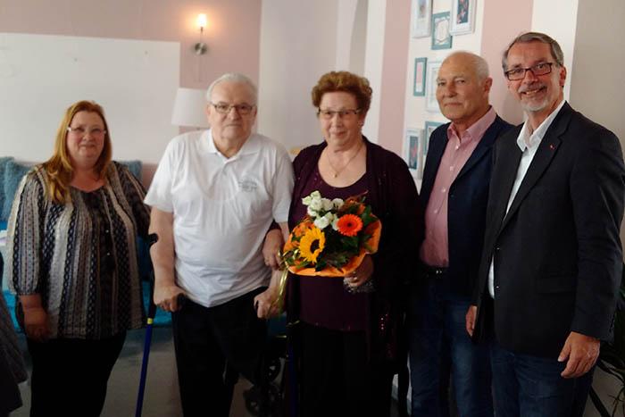 Von links: Martina Beate Jakoby, Werner Brandt, Anneliese Geißler, Pavel Beran, Sven Lefkowitz. Foto: pr