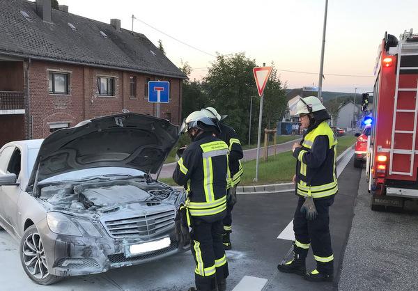 Auto brannte in Roth-Oettershagen