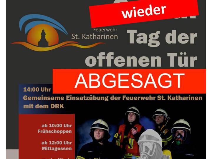 Tag der offenen Tür Feuerwehr St. Katharinen erneut abgesagt