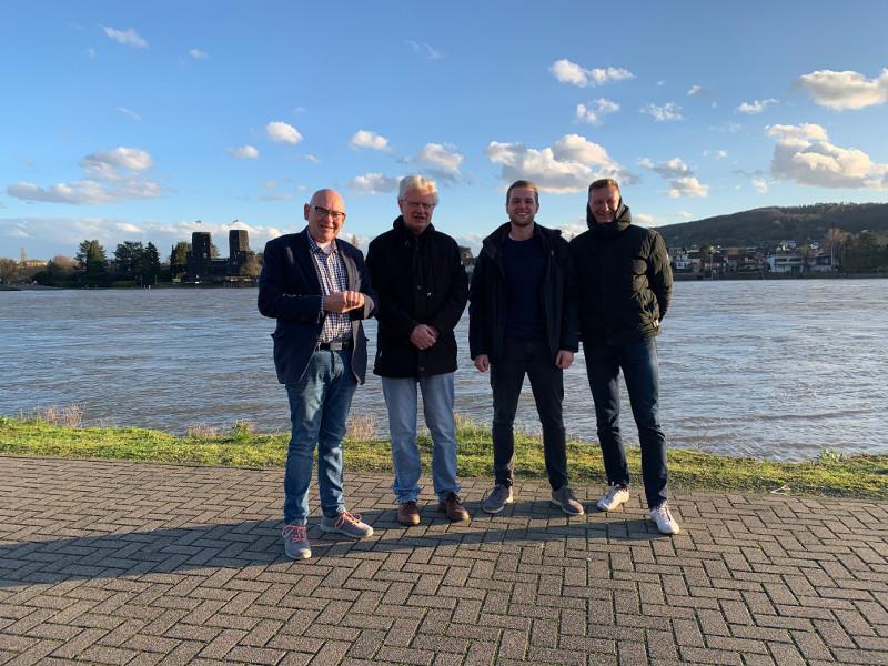 Von links: Rainer Novak, Wolfgang Reimann, Martin Diedenhofen, Markus Winkelbach. Foto: Privat