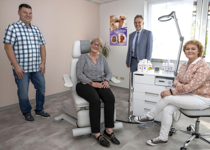Podologische Fußpflege und Massagepraxis Krütschkow ist umgezogen