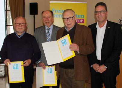 FDP-Kreisparteitag im Zeichen der gro�en Politik mit Ehrungen