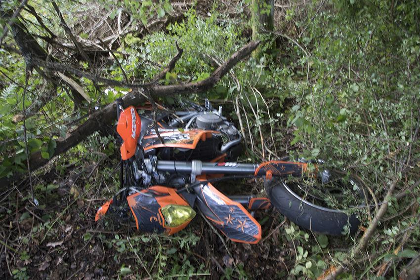 Motorradfahrer hatte bei Unfall einige Schutzengel