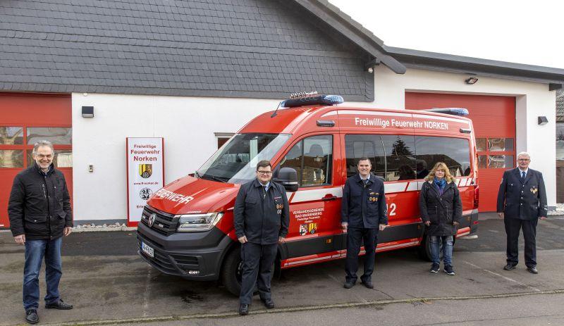 Neues Mannschaftstransportfahrzeug (MTF) für Feuerwehr Norken