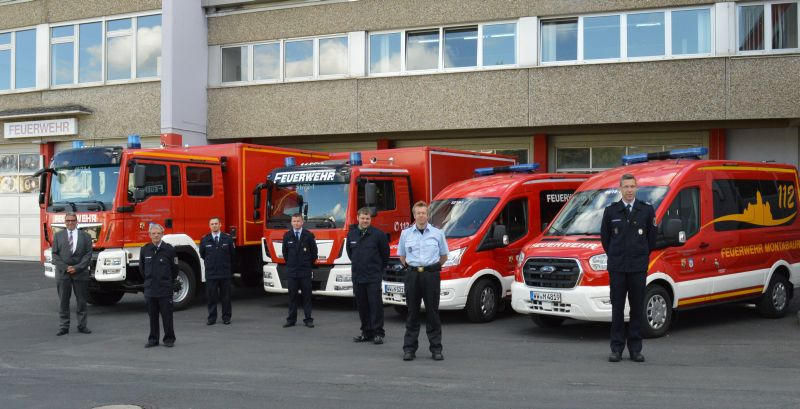 Verbandsgemeindefeuerwehr Montabaur freut sich über vier neue Fahrzeuge