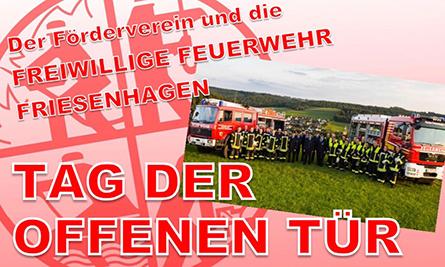 Feuerwehr Friesenhagen l�dt ein