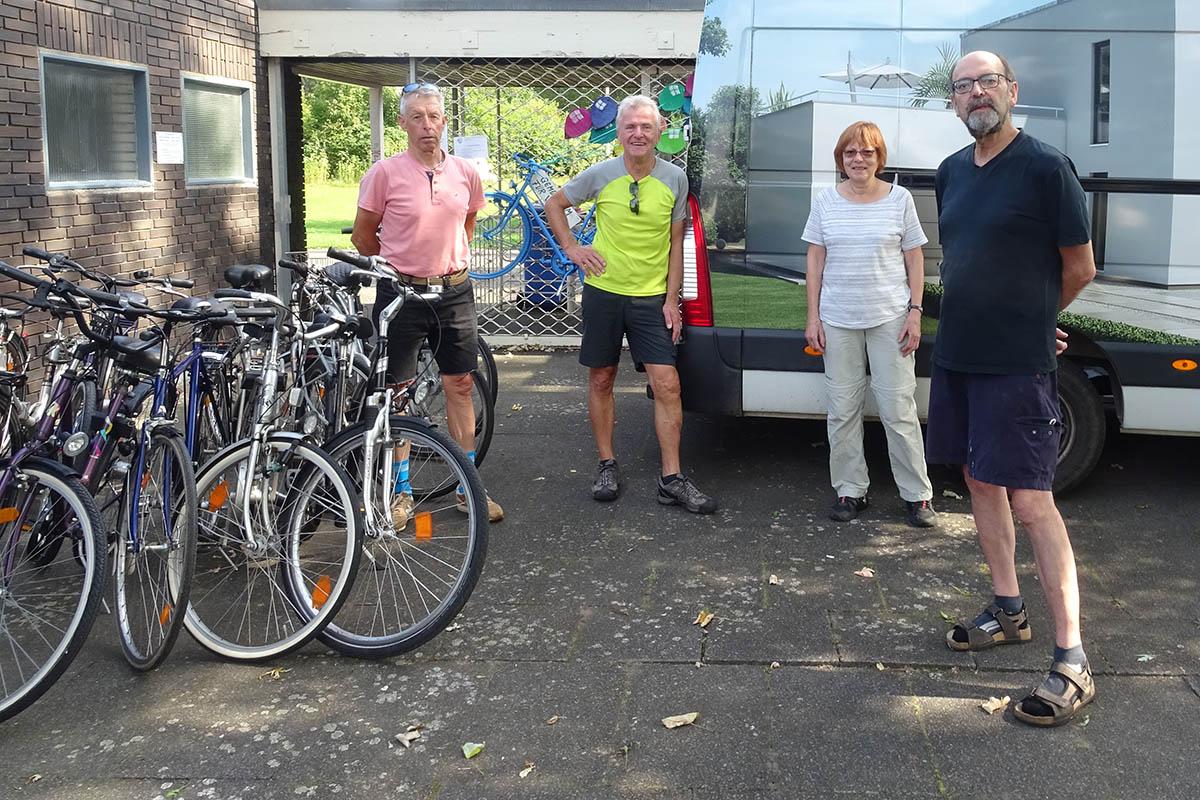 Fahrrad-Spenden der Fahrradwerkstatt für Flutopfer an der Ahr