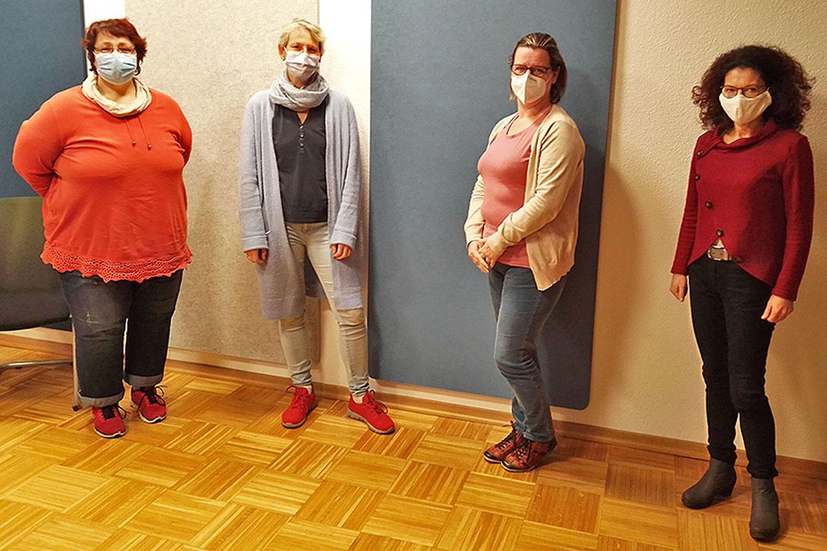 Sie bilden das Team der Familienhebammen (von links): Stefanie Hauschild, Ute Bohnstengel, Monika Schlösser und Birgit Lang. Foto: Stadt Neuwied