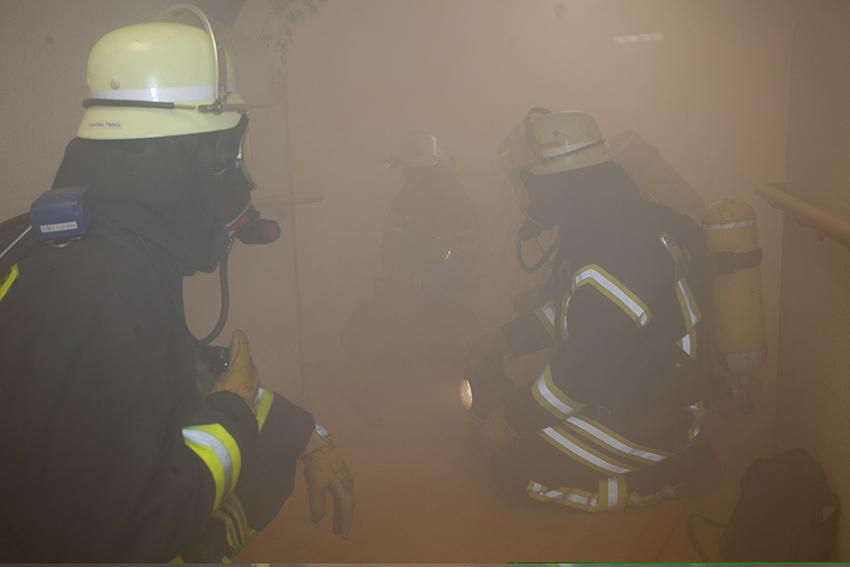 Brand in einer Lagerhalle in Anhausen