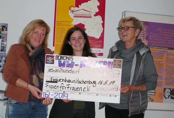 Spendenübergabe in Hachenburg. (Foto: privat)