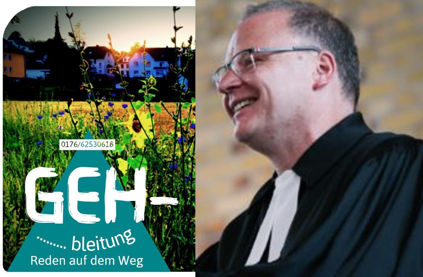 """Pfarrer Marcus Tesch bietet Seelsorge im """"GEH-Spräch"""" an. Fotos: Evangelische Kirchengemeinde Wissen"""