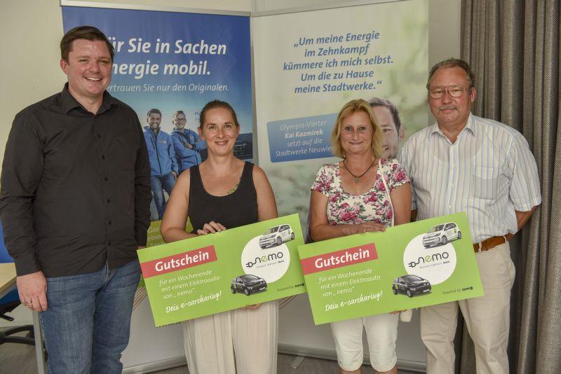 Mit nemo auf Tour: Gewinner testen E-Mobilität und Carsharing