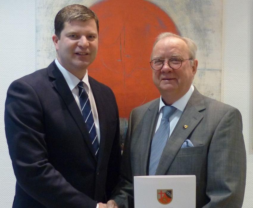 Klaus-J�rgen Griese zum ehrenamtlichen Sportbeauftragten der VG Kirchen ernannt