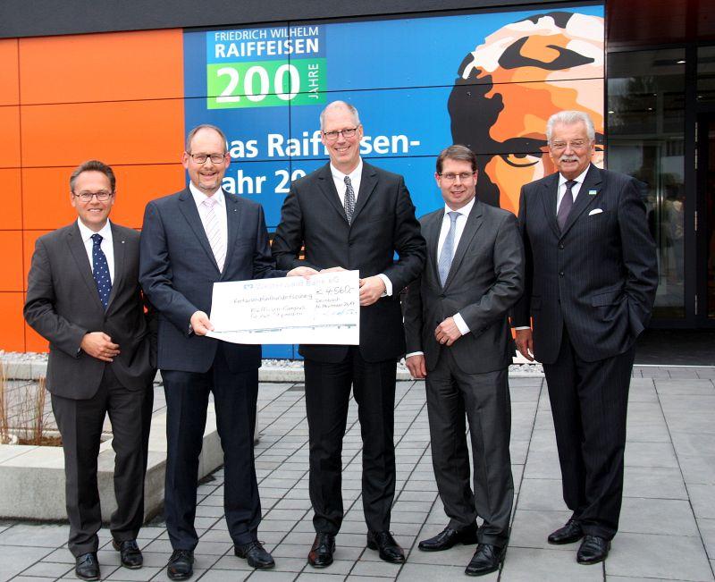 Westerwald Bank unterstützt Raiffeisen-Campus in Dernbach