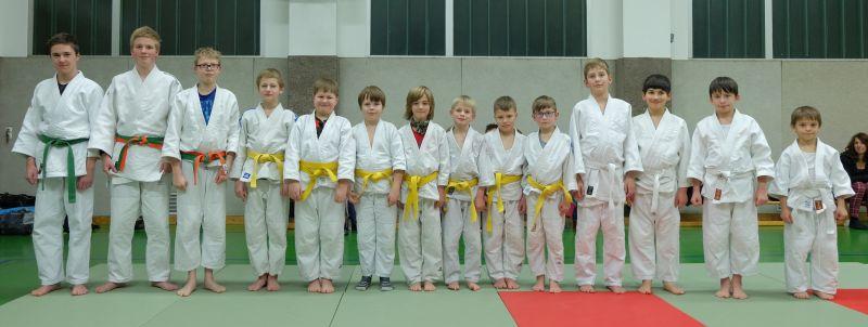Erfolgreiche Judo Gürtelprüfungen