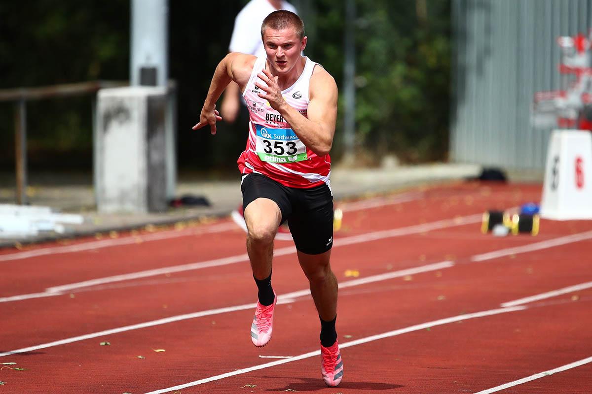 Roger Gurski war im Jahr 2020 viertschnellster Deutscher über 200 Meter. Foto: Verein