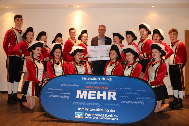Neue Uniformen f�r Marschtanzgruppe der Herkersdorfer Karnevalisten