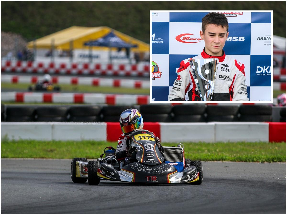 Tom Kalender auf Platz drei in Deutscher Junioren Kart-Meisterschaft