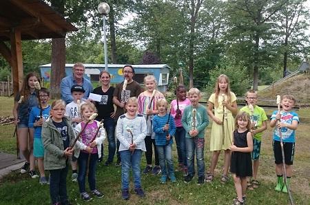 Holz- und Musikwerkstatt am Camping im Eichenwald war ein voller Erfolg