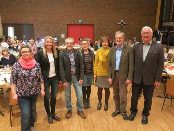 Von links nach rechts: Birgid Keller, Simone Schwenk, Hans-Günter Willuweit, Monika Schneider, Rita Gerhards, Andreas Wechsung, Friedhelm Simon. Foto: privat
