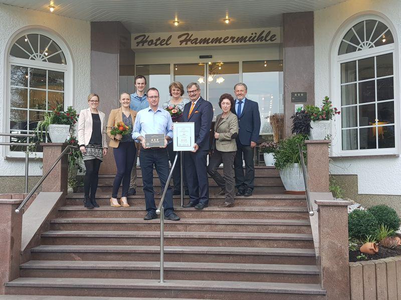 Hotel Hammermühle als drei-Sterne Superior Haus ausgezeichnet