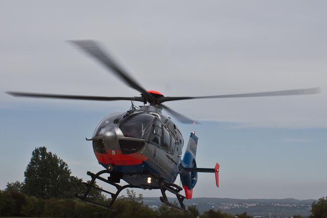 Nächtliche Vermisstensuche mit Hubschrauber