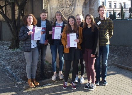 Sechs Schülerinnen und Schüler der 10. Klassen von der IGS Betzdorf-Kirchen waren beim Wettbewerb dabei. (Foto: IGS Betzdorf/Kirchen)