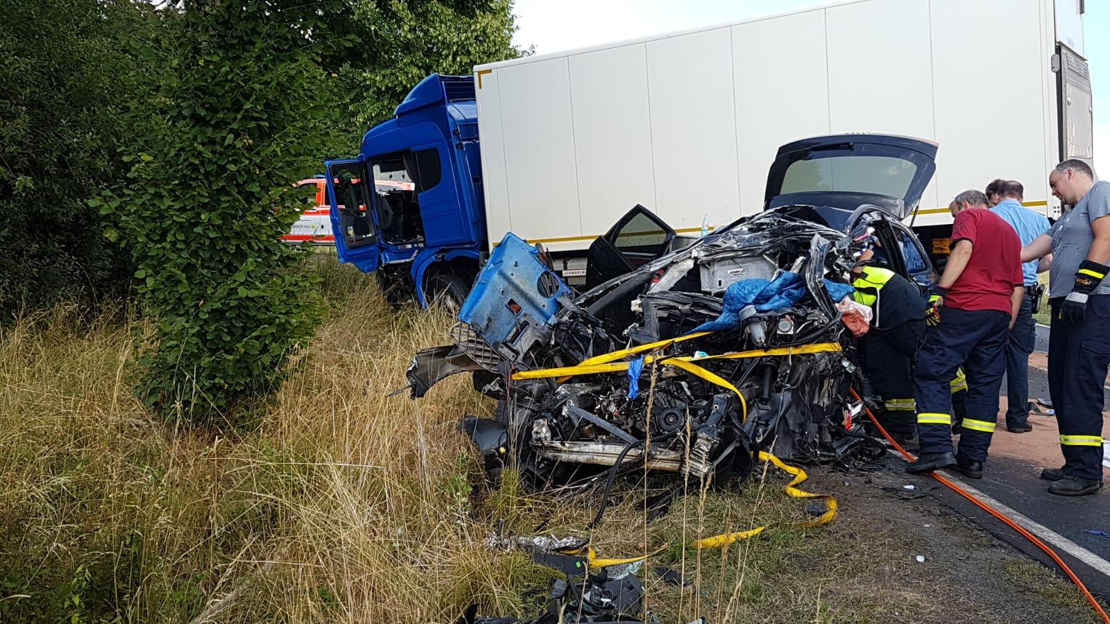 Tödlicher Unfall auf B 414