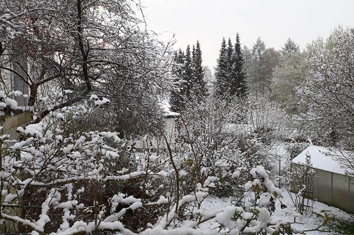 Schneefall am ersten Maiwochenende