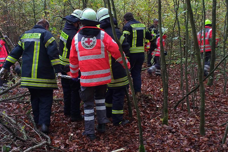 Feuerwehr Kleinmaischeid und DRK OV-Dierdorf übten gemeinsam