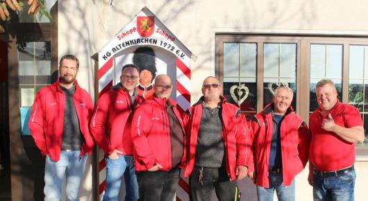 Wachh�uschen der Altenkirchener Karnevalisten aufgestellt
