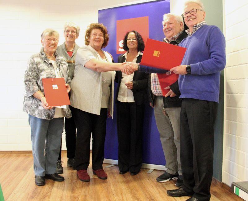 SPD-Ortsverein Wirges ehrte langjährige Mitglieder