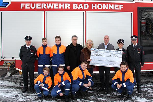ISR Windhagen unterstützt Jugendfeuerwehr Bad Honnef